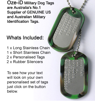 Dog Tags - Authentic Army   Military Dogtags personalised and made to order. 5d9d54a5553